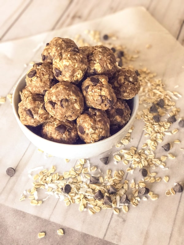 Image of Lactation Bites with Protein and Almond Butter - No-Bake
