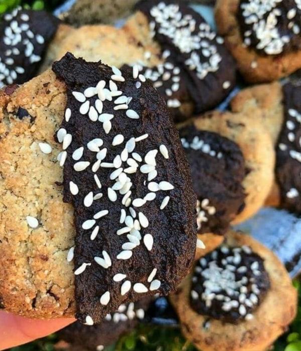 Image of Black Tahini & Cacao Cookies