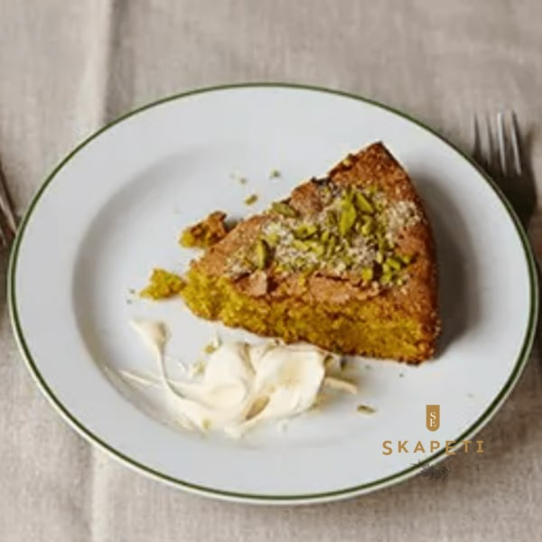Image of Pistachio, Cardamom and Olive Oil Cake