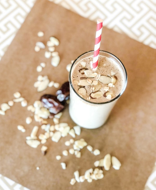 Image of Salted Caramel Lactation Protein Smoothie with Almond Butter