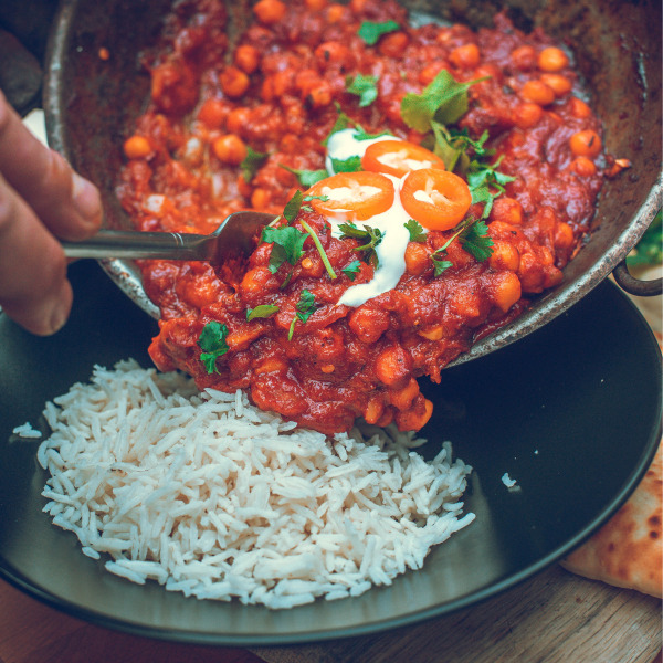 Image of Special Makhani chickpea curry
