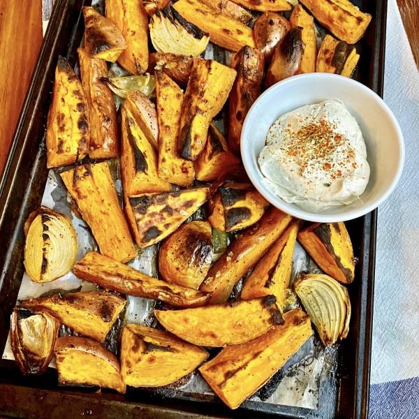 Image of Chili Roasted Sweet Potatoes