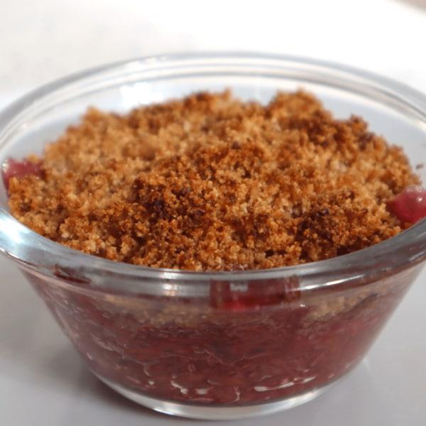 Image of Rhubarb & Raspberry Crumble