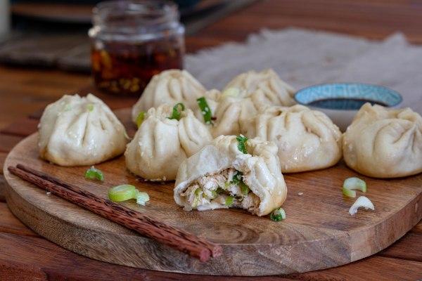 Image of Sheng Jian Bao: Pan Fried and Steamed Chicken Buns