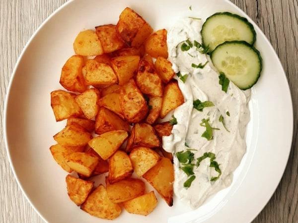 Image of 🥔 Gebackene Kartoffeln aus der Heißluftfritteuse