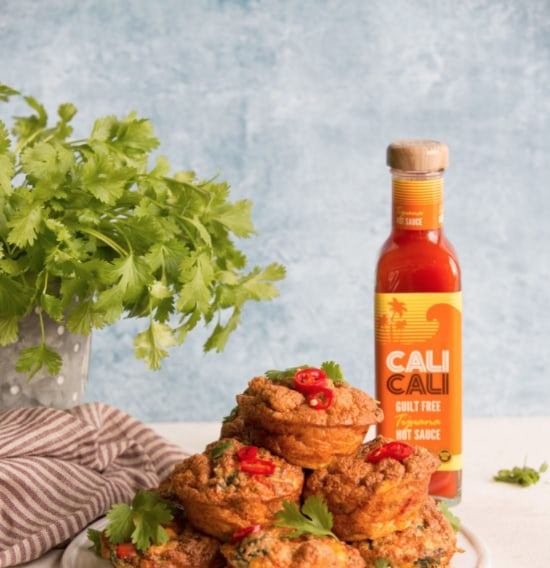 Image of MEXICAN BREAKFAST MUFFINS WITH TIJUANA HOT SAUCE