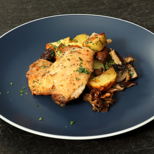 Image of Sheet Pan Chicken with Potatoes and Mushrooms