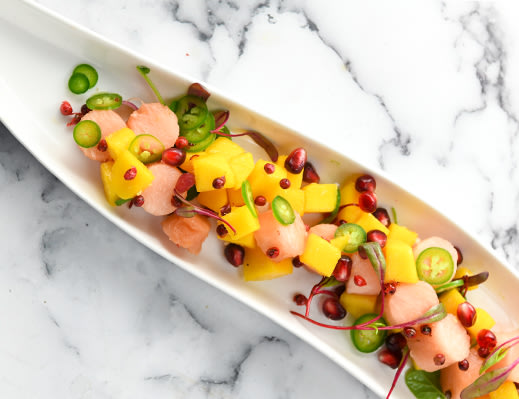 Image ofPinkglow™ Pink Pineapple and Mango Ceviche