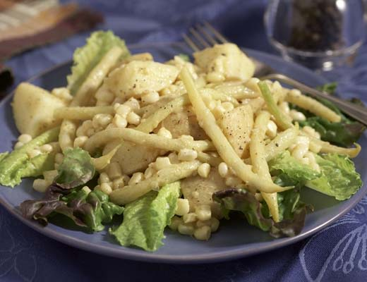 Image of Yukon Potatoes, Waxed Beans and Corn Salad