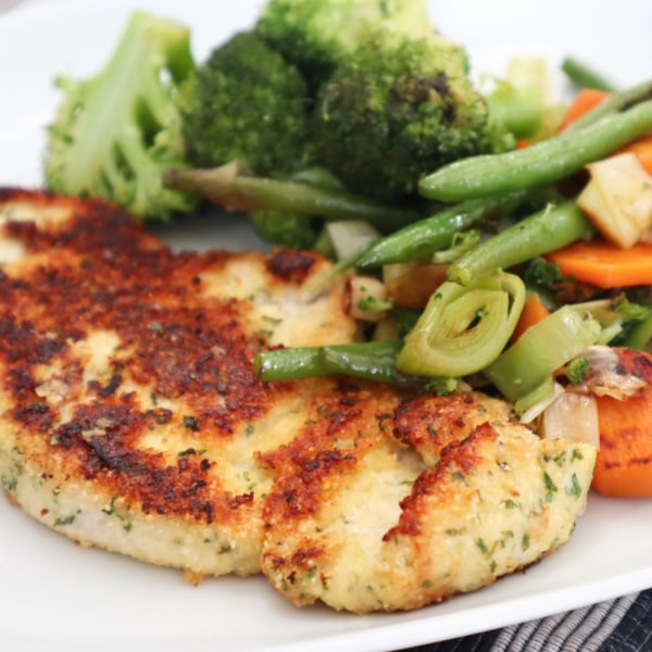 Image ofTurkey Steaks with a Parmesan Crust