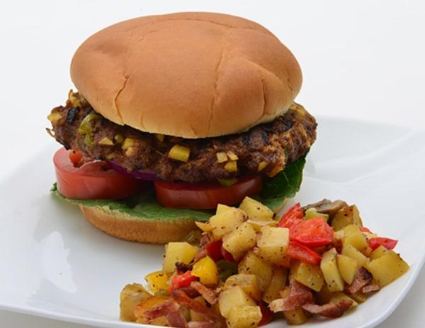 Image ofItalian Potato Hash Breakfast Burger with DYP O'Brien