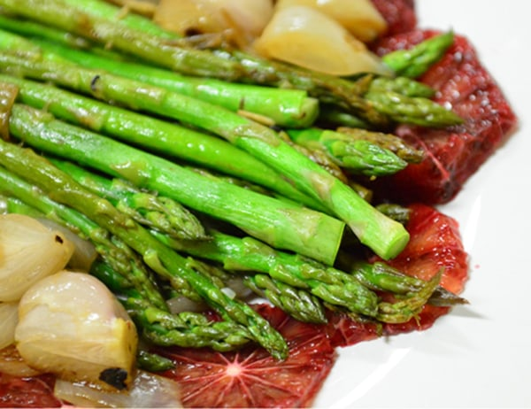 Image ofAsparagus with Blood Oranges and Shallots