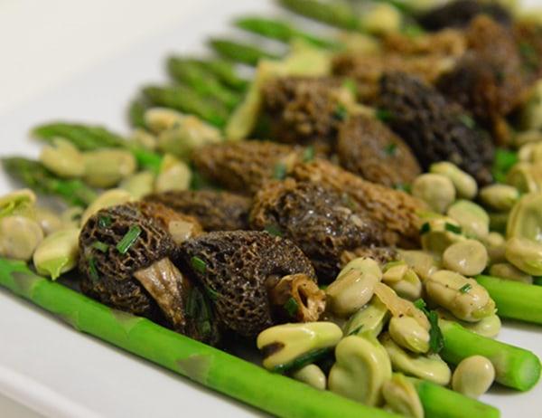 Image ofAsparagus, Fava Beans, Chervil & Morel Mushrooms