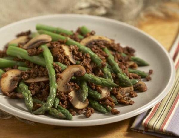 Image ofAsparagus, Mushroom and Soy Taco Sauté