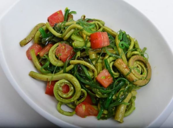 Image of Korean Style Fiddlehead Fern Salad