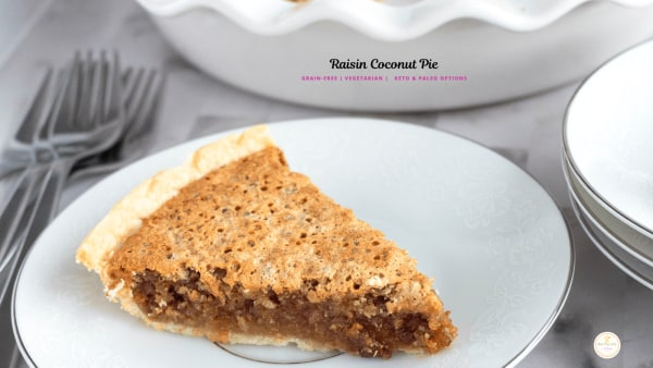Image ofRaisin Coconut Pie with Pre-made Pie Shell