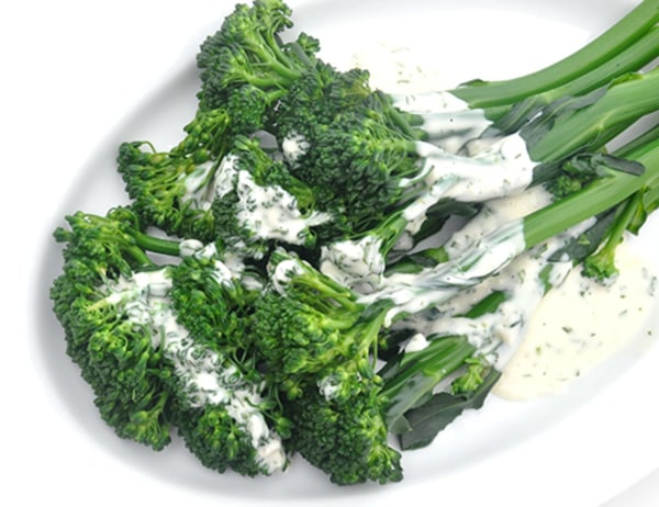 Image of Béarnaise-Dressed Baby Broccoli