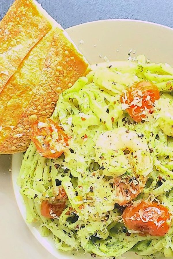 Image of Avocado Pesto Pasta Recipe