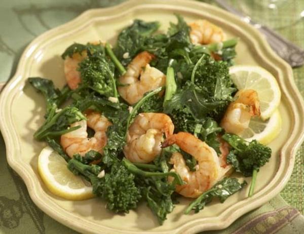 Image of Baby Broccoli and Shrimp Sauté