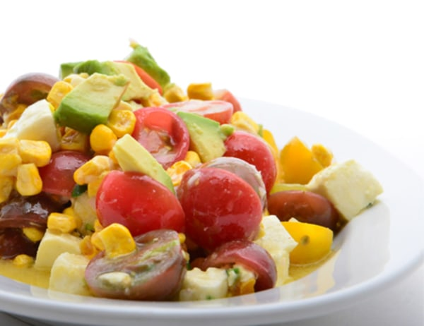 Image of Baby Heirloom Tomato and Corn Salsa Salad