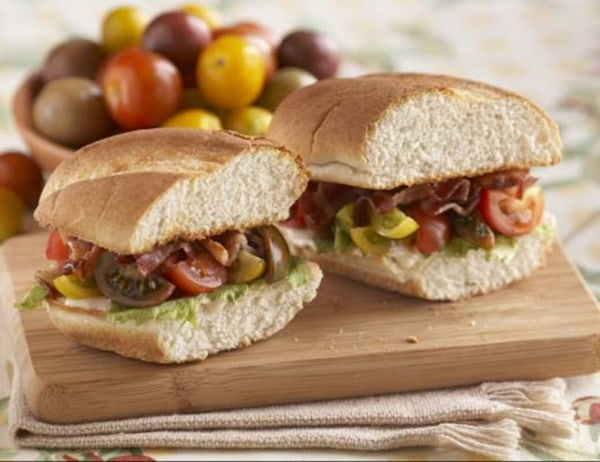 Image ofBacon, Lettuce and Tomato Sandwiches