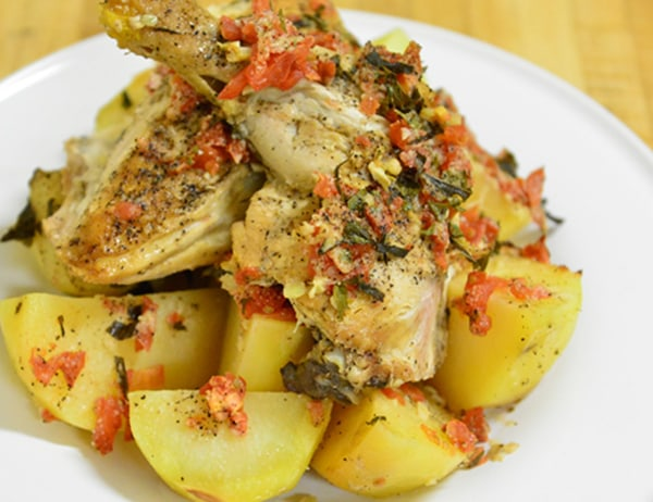 Image of Baked Chicken and Yukon Potatoes