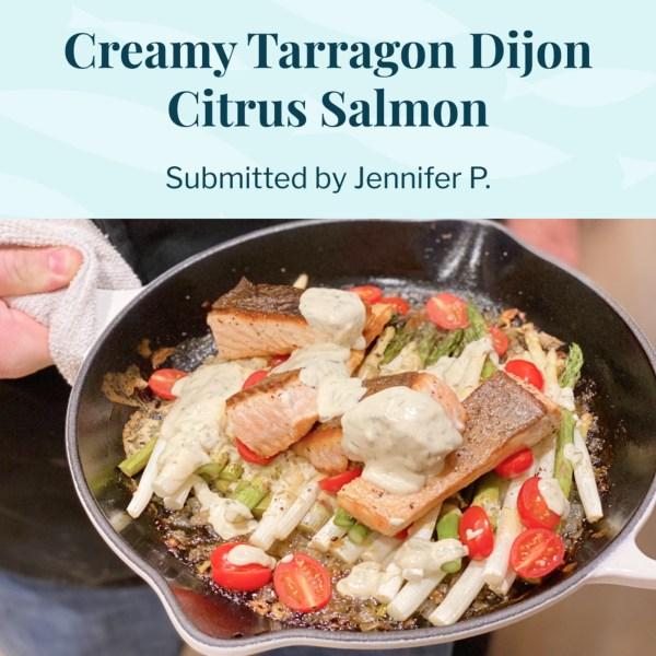 Image ofCreamy Tarragon Dijon Citrus Salmon