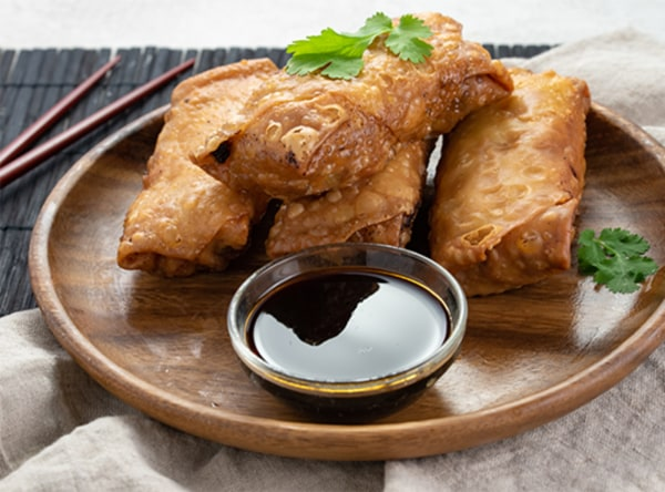 Image ofBaked Vegetable Egg Rolls with Hoisin/Chile Garlic Sauce
