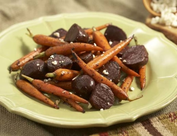 Image ofBalsamic Marinated Roasted Baby Beets and Baby Carrots