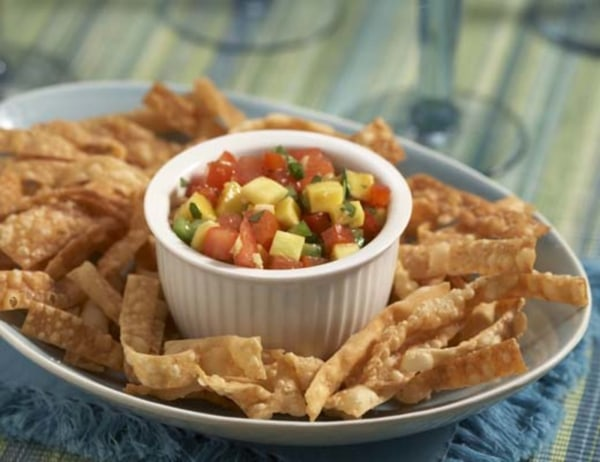 Image of  Won Ton Chips with Fruit Salsa
