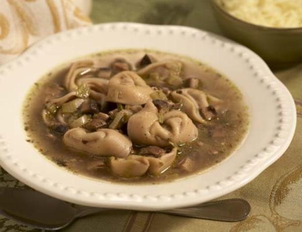 Image of Basil Pesto Tortellini Soup