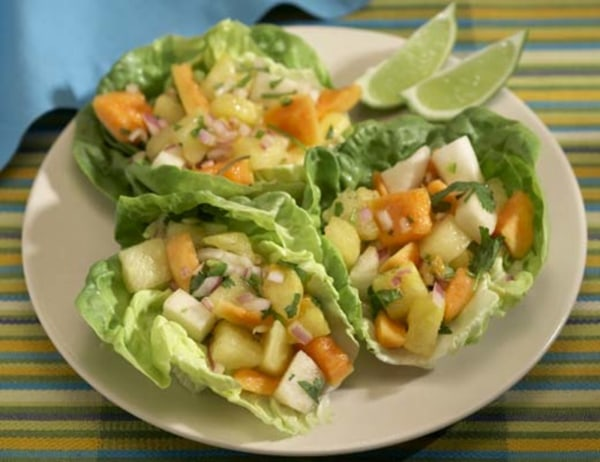 Image ofPapaya-Jicama-Watermelon Salad with Ginger Dressing