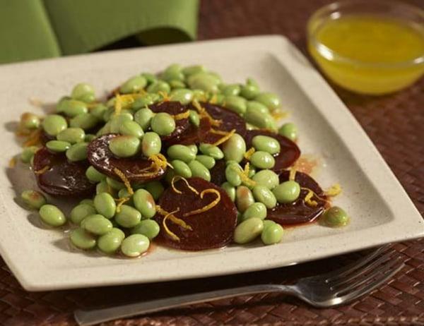 Image ofBeet and Edamame (Soybeans) Salad with Citrus Vinaigrette