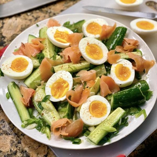 Image of Comapeño & Egg Salad with Smoked Salmon