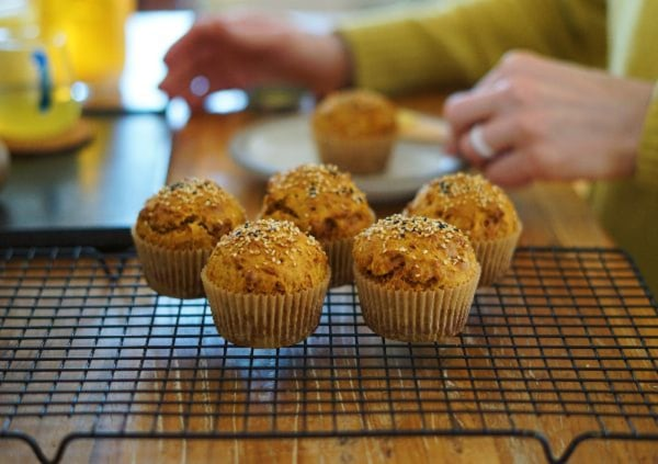 Orange Muffins with Organic Turmeric Powder