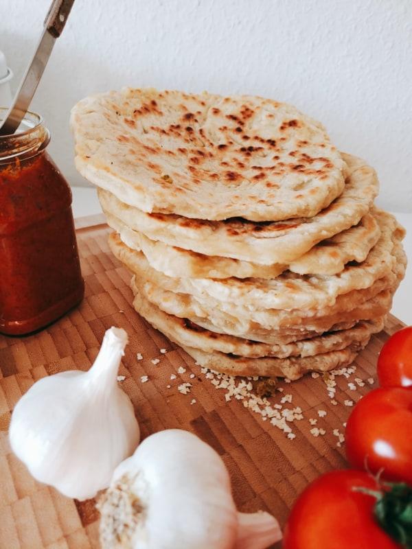 Veganes arabisches Pfannenbrot Rezept
