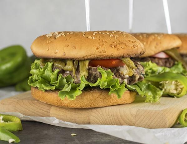 Image ofBleu Cheese Stuffed Chile Burgers