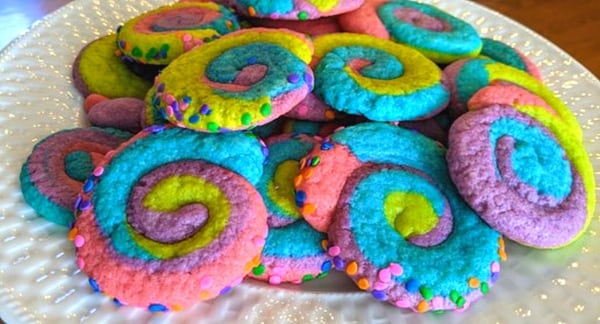 colorful cookies mardi gras style