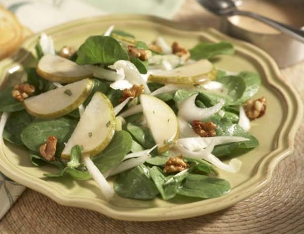 Image of Pear, Arugula & Endive Salad with Candied Walnuts