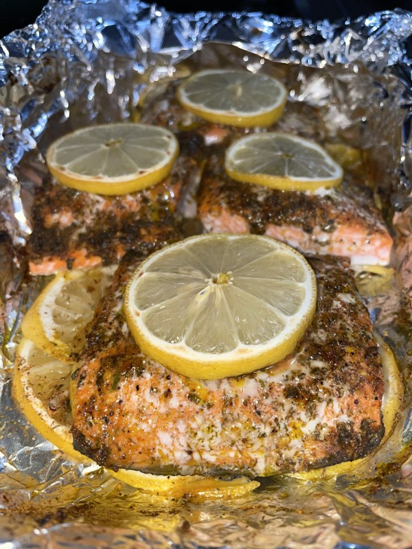 Image of Garlic Butter Baked Salmon