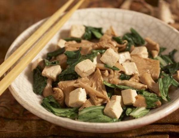 Image of Bok Choy and Oyster Mushroom Stir Fry