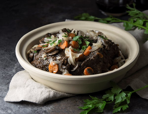 Image of Braised Beef & Sweet Baby Carrots with Onions & Red Wine