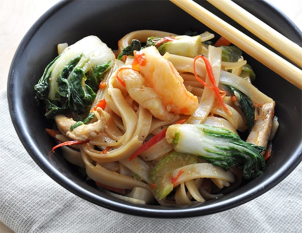 Image ofBraised Rice Noodles with Choy Sum