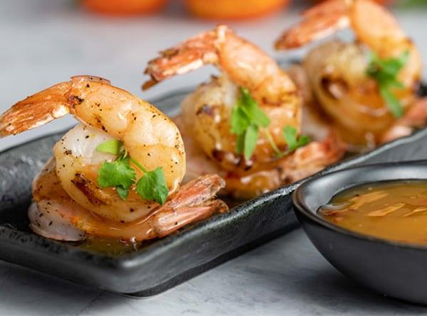 Image of Pixie Tangerine Glazed Grilled Shrimp