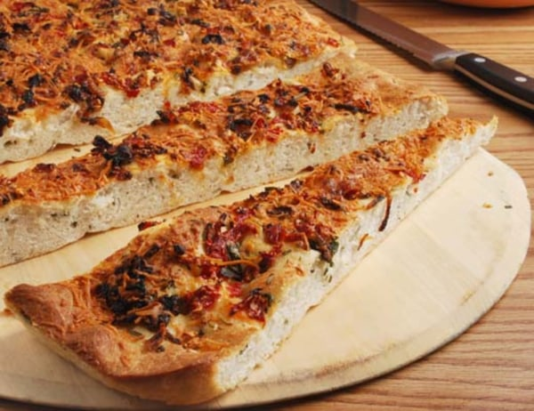 Image ofCaramelized Cipolline Onions And Roasted Red Bell Pepper Focaccia
