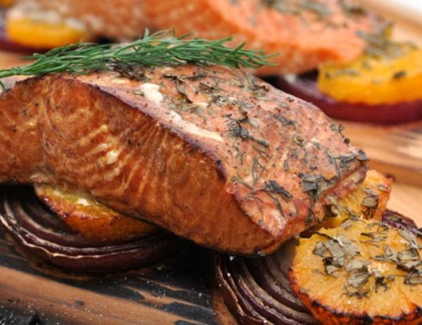 Image of Cedar Plank Grilled Salmon