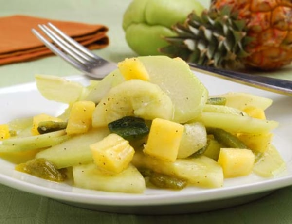 Image of Chayote and Poblano Pepper Slaw