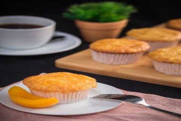 Turmeric Peach Sunrise Muffins Recipe