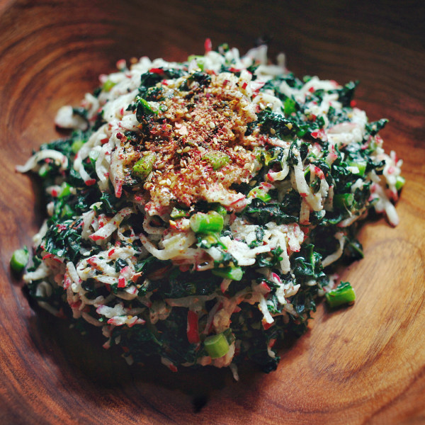 Image ofRadish and Kale Salad with Ana N.36