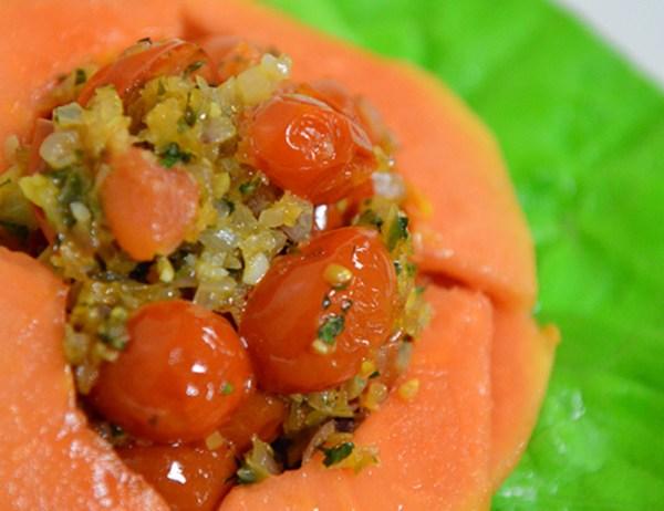 Image of Cherry Tomato, Papaya, and Shallot Salad